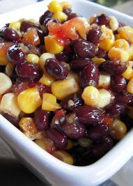 Black Bean and Corn Salsa - black beans, corn, Italian dressing, Rotel and lime - Great for parties! People go nuts over this dip!