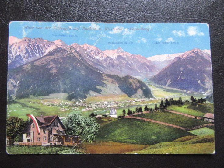 AK Bludenz & Klostertal-Blick von der Tschengla-um 1914