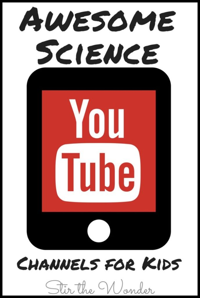 Science YouTube channels for kids.