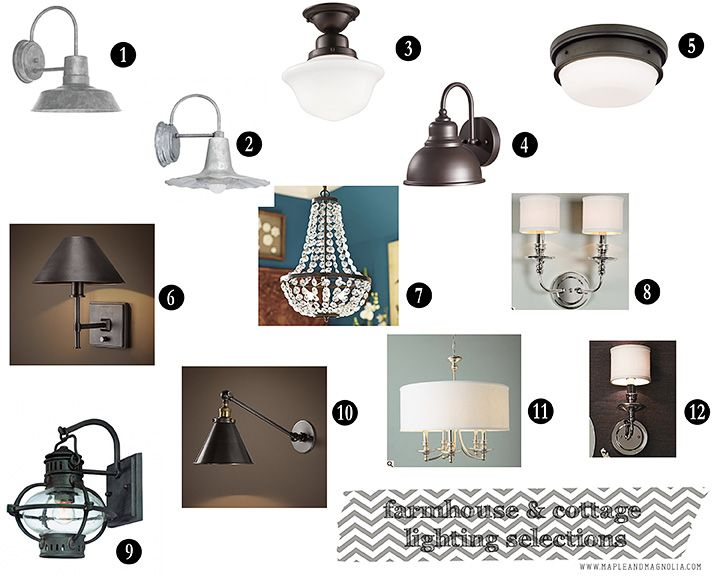 lighting choices. lighting choices with links of maple and magnolia blog
