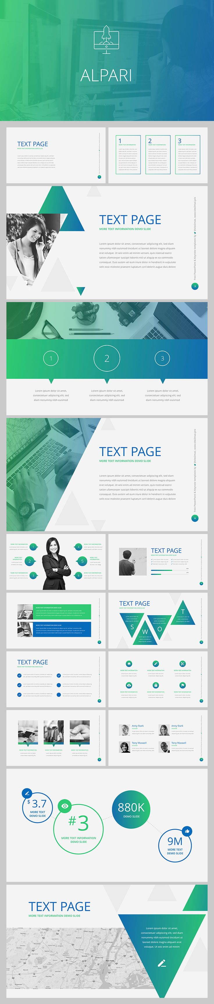 """Alpari"" marketing free PowerPoint. Download now > Professional templates for business, marketing and education. Modern design, huge base of free templates."
