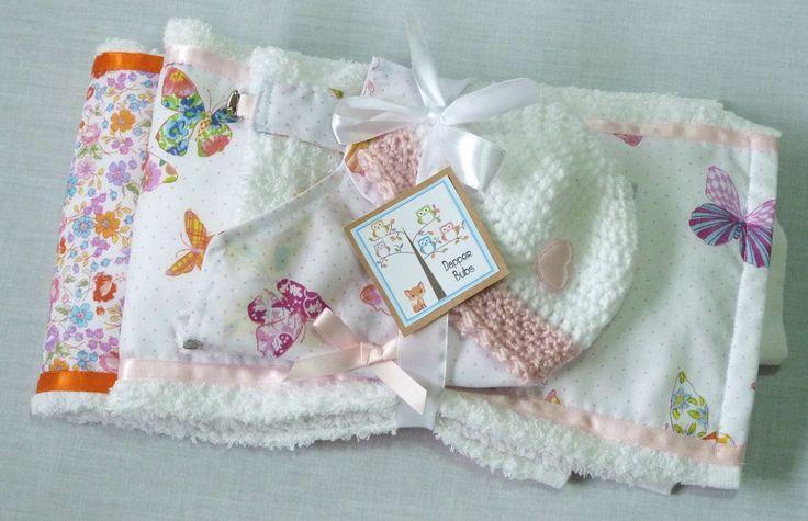 Baby Shower Gift Set - Burp Cloth  - 5 Piece Set