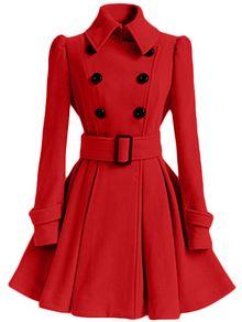 abrigo solapa doble botonadura-verde y rojo