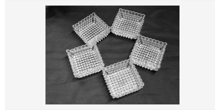 #Vintage #Hobnail Dewdrop #Glass Square #Dishes #gotvintage