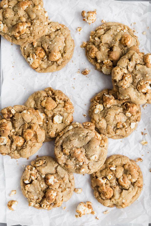 Caramel Popcorn Cookies Recipe In 2020 With Images Fudge