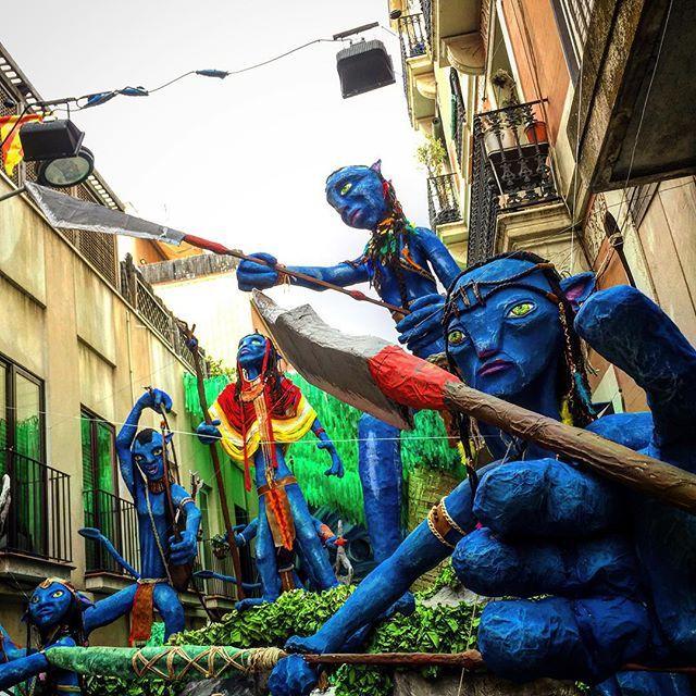 Pandora. Decoració carrer Progrés. Festes de Gràcia 2015