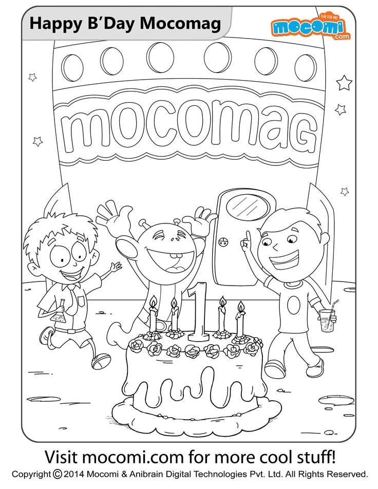 Happy Birthday Mocomag Online Jojo Colouring Page For Kids Free Printable Coloring Pages A Variety Of Themes That You Can Print Out And Color At Home