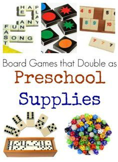 Find educational supplies to be too expensive? Check out these board games that can also be used as preschool or homeschool supplies and manipulatives!