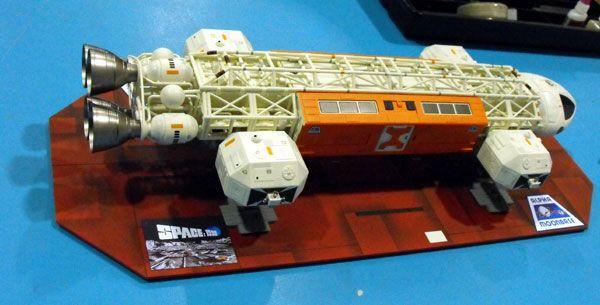 Earl's 1/48 Space 1999 Eagle with custom base.