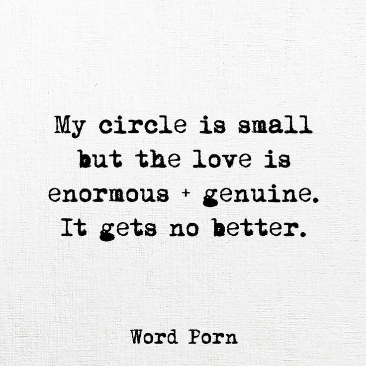 Small circle, best of friends