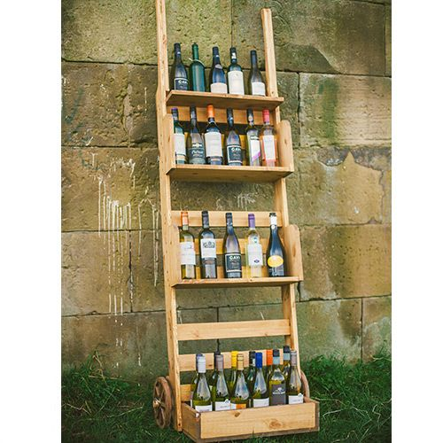 Large wooden standing sack barrow, perfect for extra display space, wine rack, point-of-sale or an outdoor, rustic barn style wedding! www.madebynook.co.uk