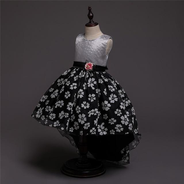 Summer Girls Dress Teens 3-12 Years Flower Trailing Dress Kids Princess Dresses For Girls Children Party Dress – Products