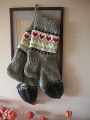 Skarpetki tulipanowe || Tulip socks