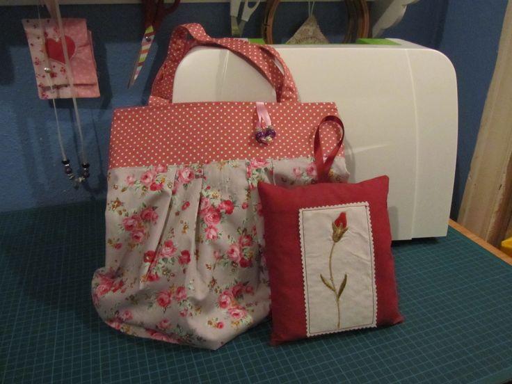 debbie shore bag with jewel charm & lavender cushion