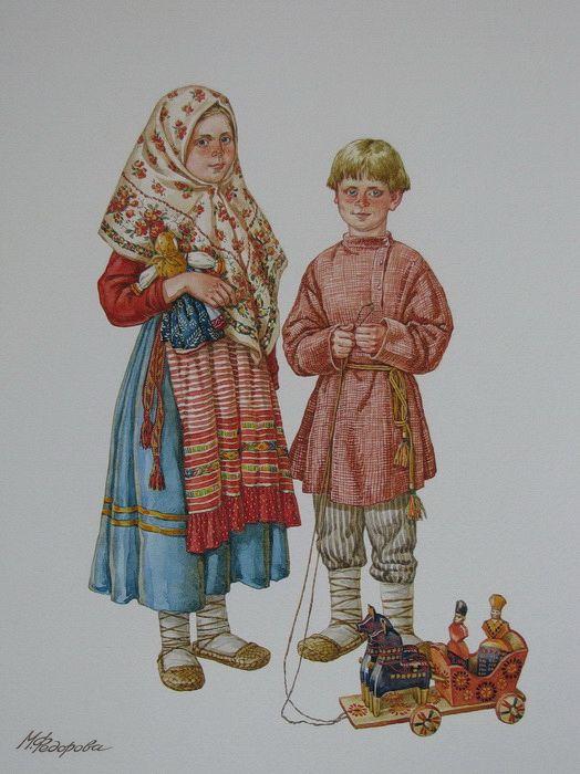 Просмотреть иллюстрацию Владимирские детишки из сообщества русскоязычных художников автора Марина Федорова  в стилях: Реализм, нарисованная техниками: Акварель.