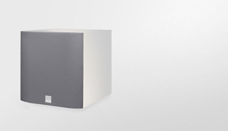 ASW608 may look neat and unassuming, but it packs an acoustic punch that's more than a match for some of its bulkier, more ungainly rivals, thanks in part to its 200W ICEpower amplifier. Perfect for a big sound in smaller spaces. Now available in either Matte Black or a Matte White, to match the M-1 speakers.