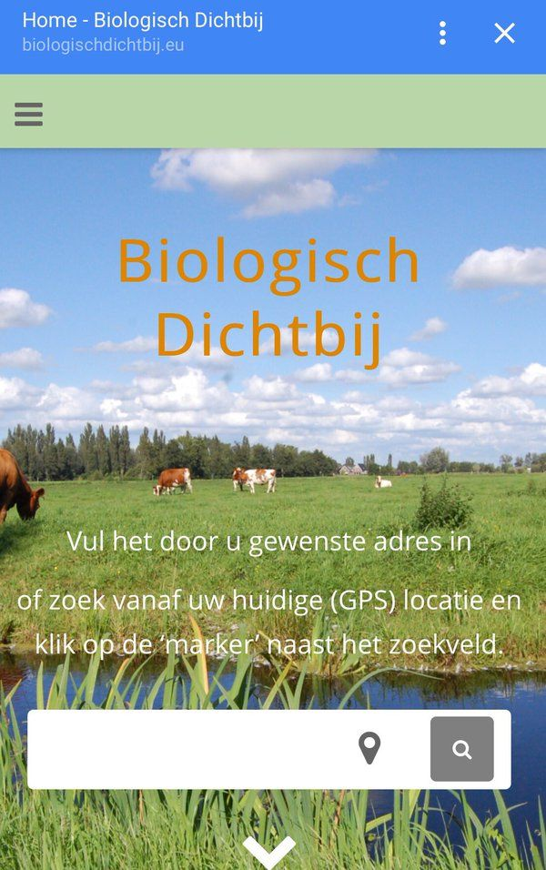 Vind uw lokale biologische producten