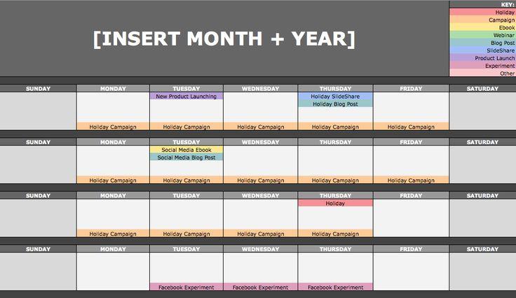 February 12, 2016 // 7:00 AM The Social Media Content Calendar Template Every Marketer Needs [Free Template]