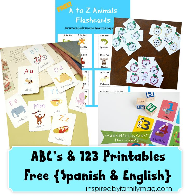 abc's printables in spanish & English - such a great way to make learning another language fun!