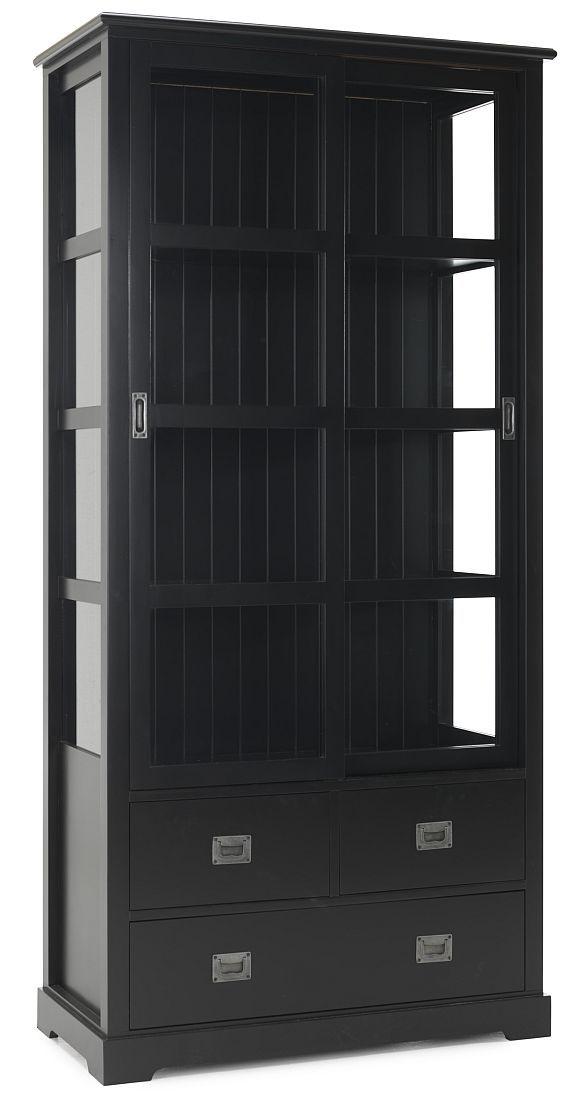 vitrinskåp svart ungefär detta  Placeras bredvid garderoben mitt emot dörren