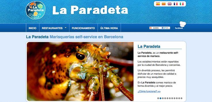 Página web La Paradeta | Marisquerías self-service en Barcelona