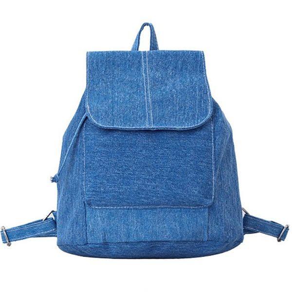 Women Casual Canvas Backpack Drawstring School Book Bags Rucksack - Banggood Mobile