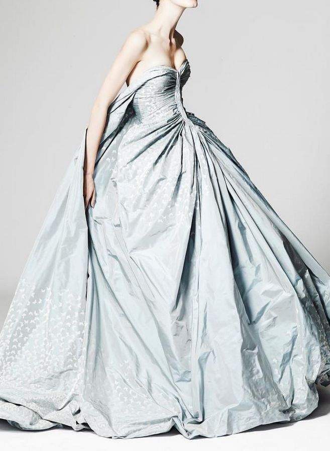 { Zac Posen Resort 2014 - blue wedding dress }