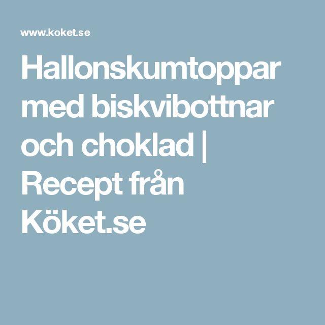 Hallonskumtoppar med biskvibottnar och choklad | Recept från Köket.se