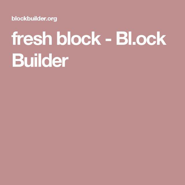 fresh block - Bl.ock Builder