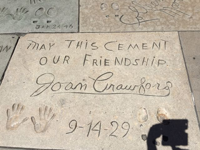 Hollywood handprints