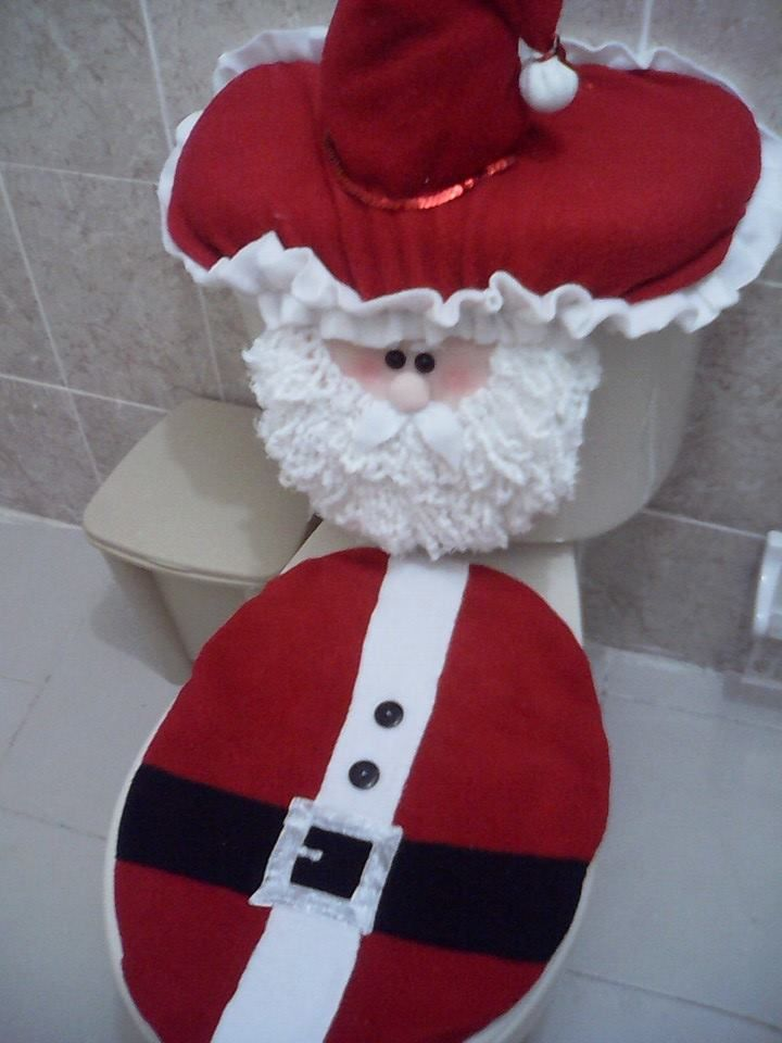 bathroom santa