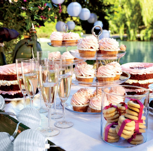 Sweet party buffet by IKEA. Perfect for a birthday party or bridal shower!