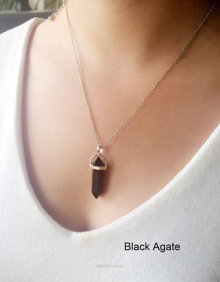 Multi Color Quartz Necklaces-Necklaces-Look Love Lust, https://www.looklovelust.com/products/multi-color-quartz-necklaces