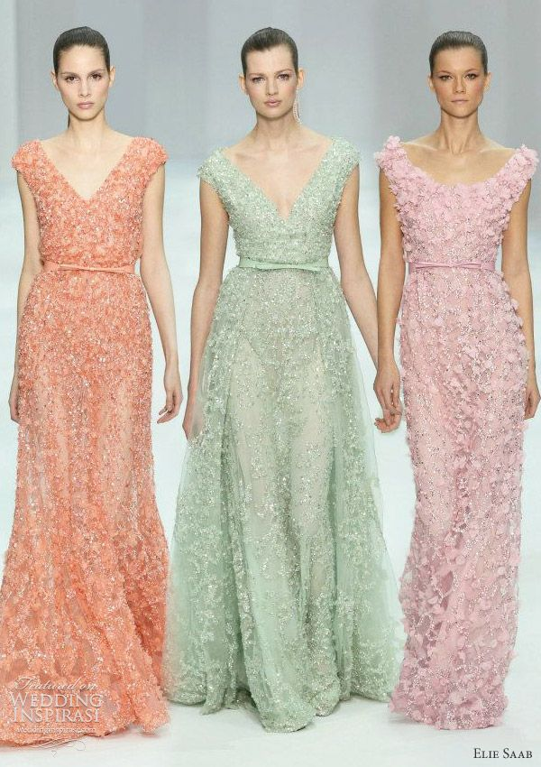 elie saab spring 2012 couture collection - candy colored gowns