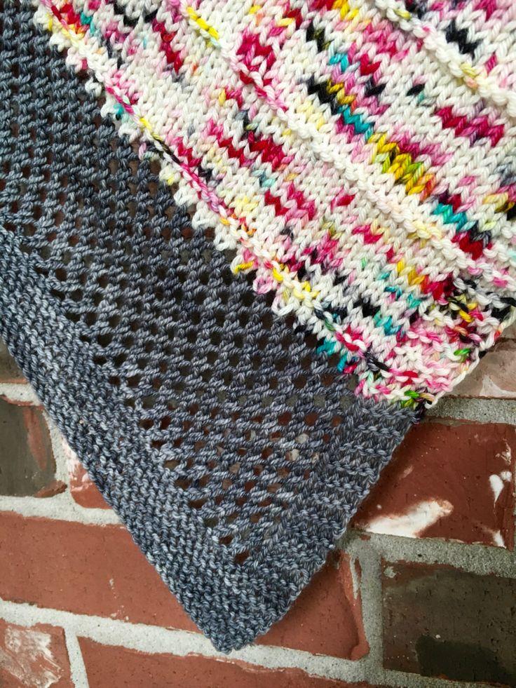 Graffiti Knitting Patterns : Graffiti shawl knitting pattern knit triangle scarf