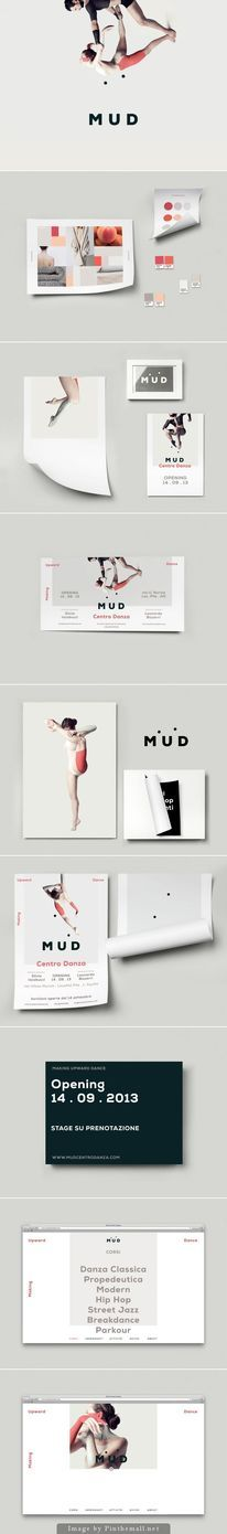 MUD Identity: The motion in the two dots and the sparse minimal photography is lovely to see play out across all applications.