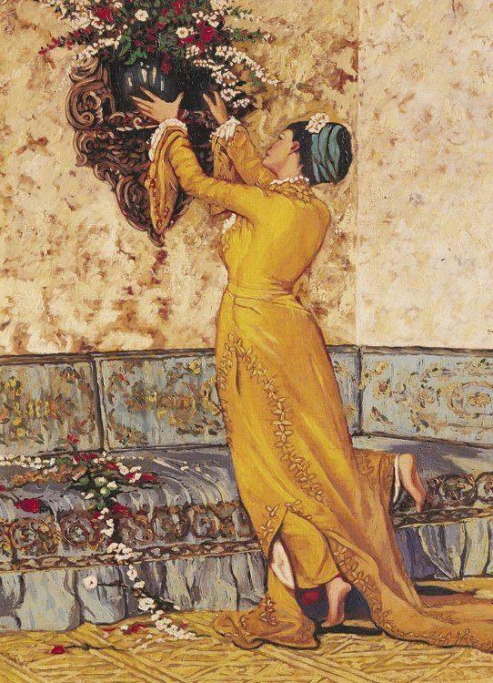"""Girl Who Fills The Vase""  by Osman Hamdi  Bey"