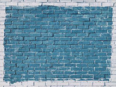 벽돌-벽-페인트-흰색-파랑-컬러-photos