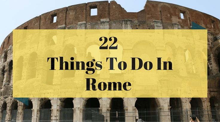 Rome is one of the most amazing cities in the world. You could spend months exploring Rome, but here are the 22 best things to do in Rome! These are the best Rome attractions. If you're wondering what to do in Rome, check out this list!