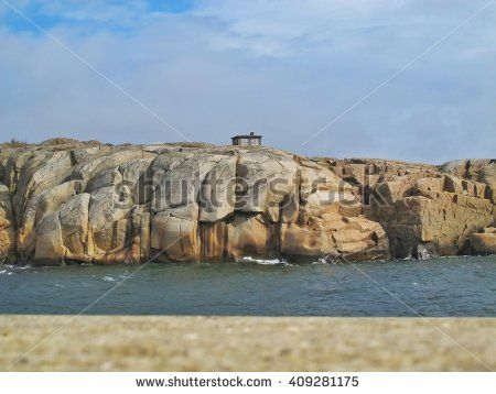 House on a rock by the sea