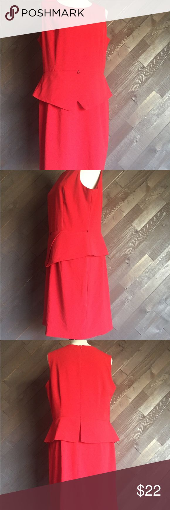 Emma & Michelle Red Peplum Dress 🌹🌹🌹 Emma & Michelle Red Peplum Dress In excellent used condition, it's missing the detachable belt. Measures 37 Long & 20 from arm pit to arm pit emma & michelle Dresses Mini