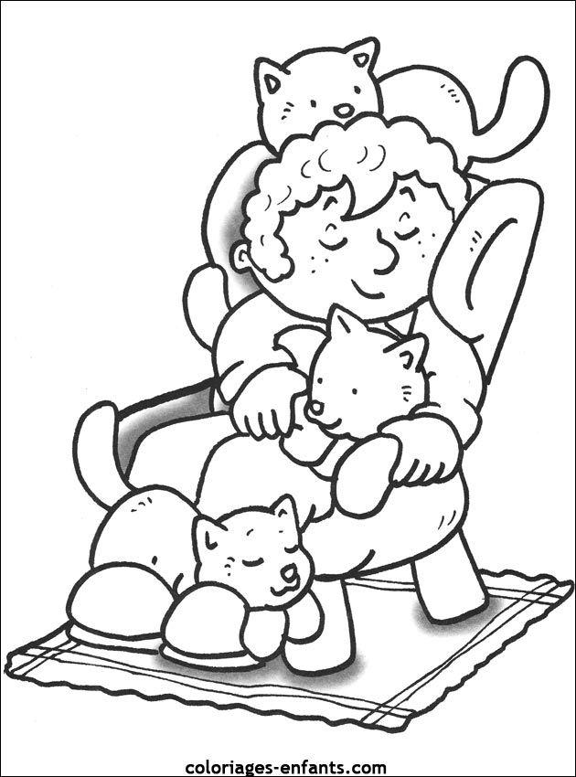 les coloriages de coloriages enfants huisdieren kleurplaten embroidery