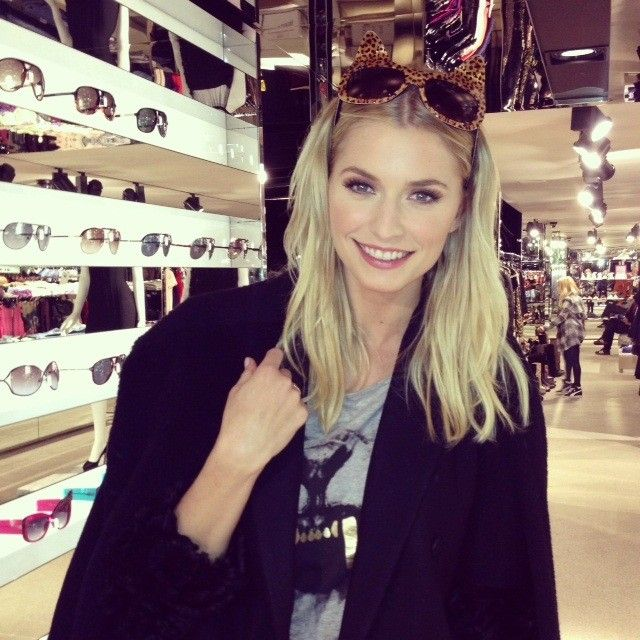 Germany's Next Top Model winner Lena Gercke looking fabulous in the Gregorys exclusive Anna Karin Karlson sunglasses!!