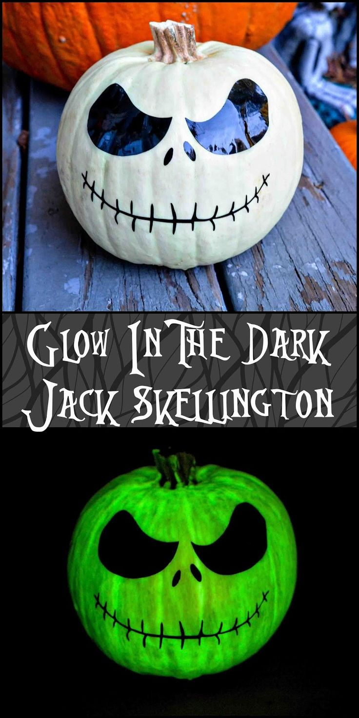Jack Skellington Pumpkin Glow in the Dark