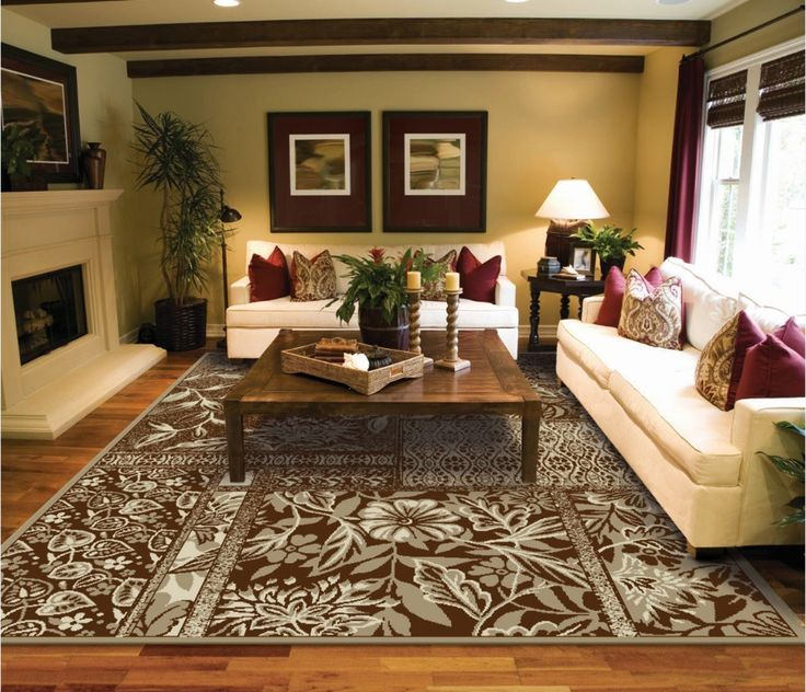 Amazon Large Rug Flower Area Rugs Clearance Modern For Living Room Brown