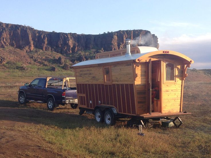 Tour of Andrew's gorgeous handcrafted gypsy wagon — Tiny House Swoon