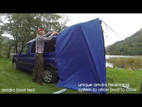 B - boot jump and boot tent, Amdro alternative campervans