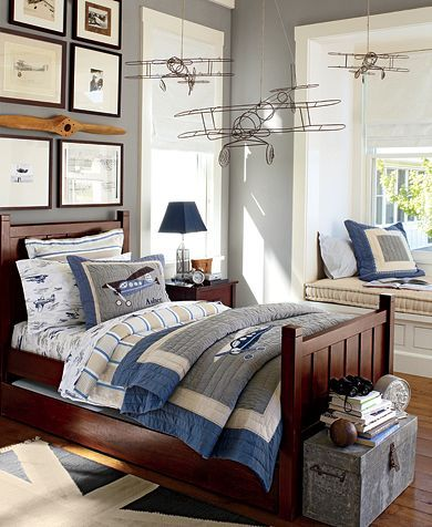 Taking Flight Bedroom | Pottery Barn Kids Like the palette