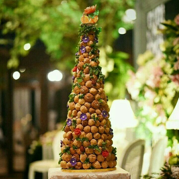 Tower of Croqumbouche for Mrs. Bytha's Wedding