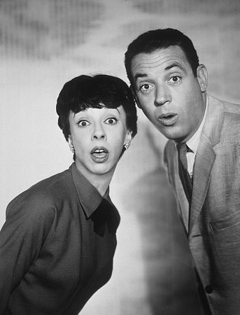 The Dick Van Dyke Show:  Ann Morgan Guilbert and Jerry Paris as Millie and Jerry Helper.  Ann was also Yetta in the Nanny.